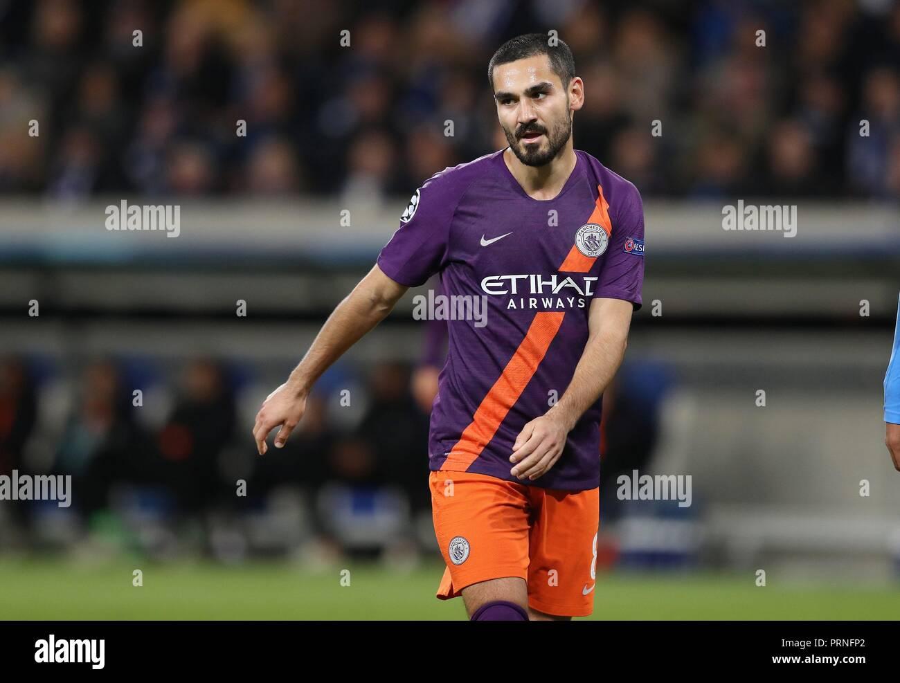 firo: 02.10.2018 Football, Football, Champions League: TSG Hoffenheim - Manchester City 1: 2 Ilkay Gundogan, half figure   usage worldwide - Stock Image