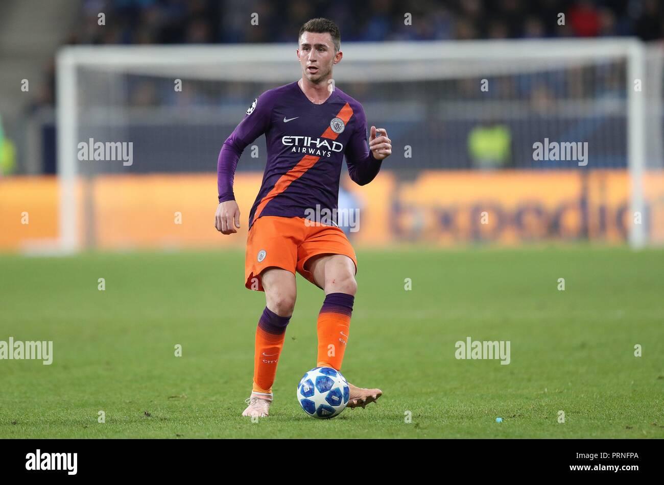 firo: 02.10.2018 Football, Football, Champions League: TSG Hoffenheim - Manchester City 1: 2 single action, Aymeric Laporte   usage worldwide - Stock Image