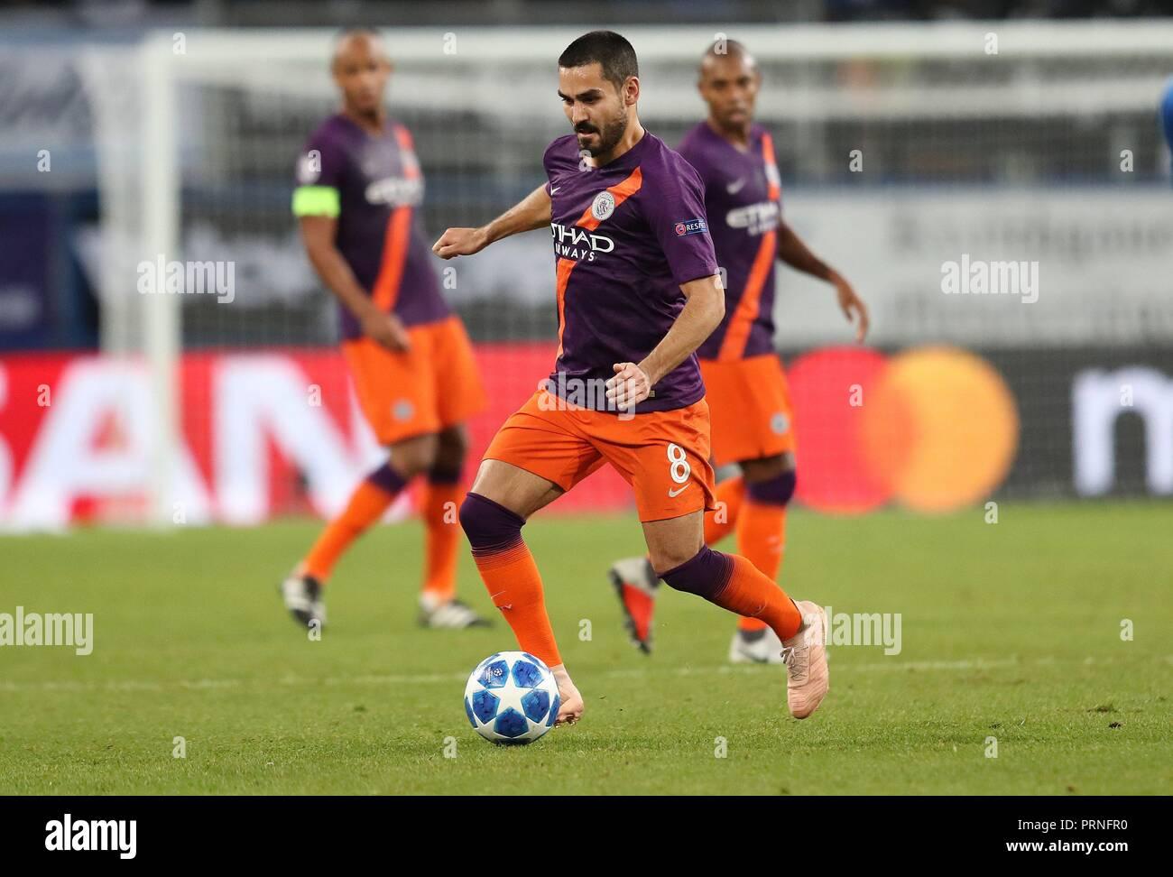 firo: 02.10.2018 Football, Football, Champions League: TSG Hoffenheim - Manchester City 1: 2 Ilkay Gundogan, single action   usage worldwide - Stock Image