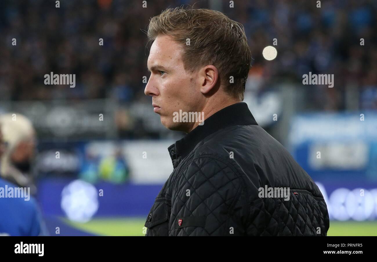 firo: 02.10.2018 Football, Football, Champions League: TSG Hoffenheim - Manchester City 1: 2 coach Julian Nagelsmann, Portrait,   usage worldwide - Stock Image