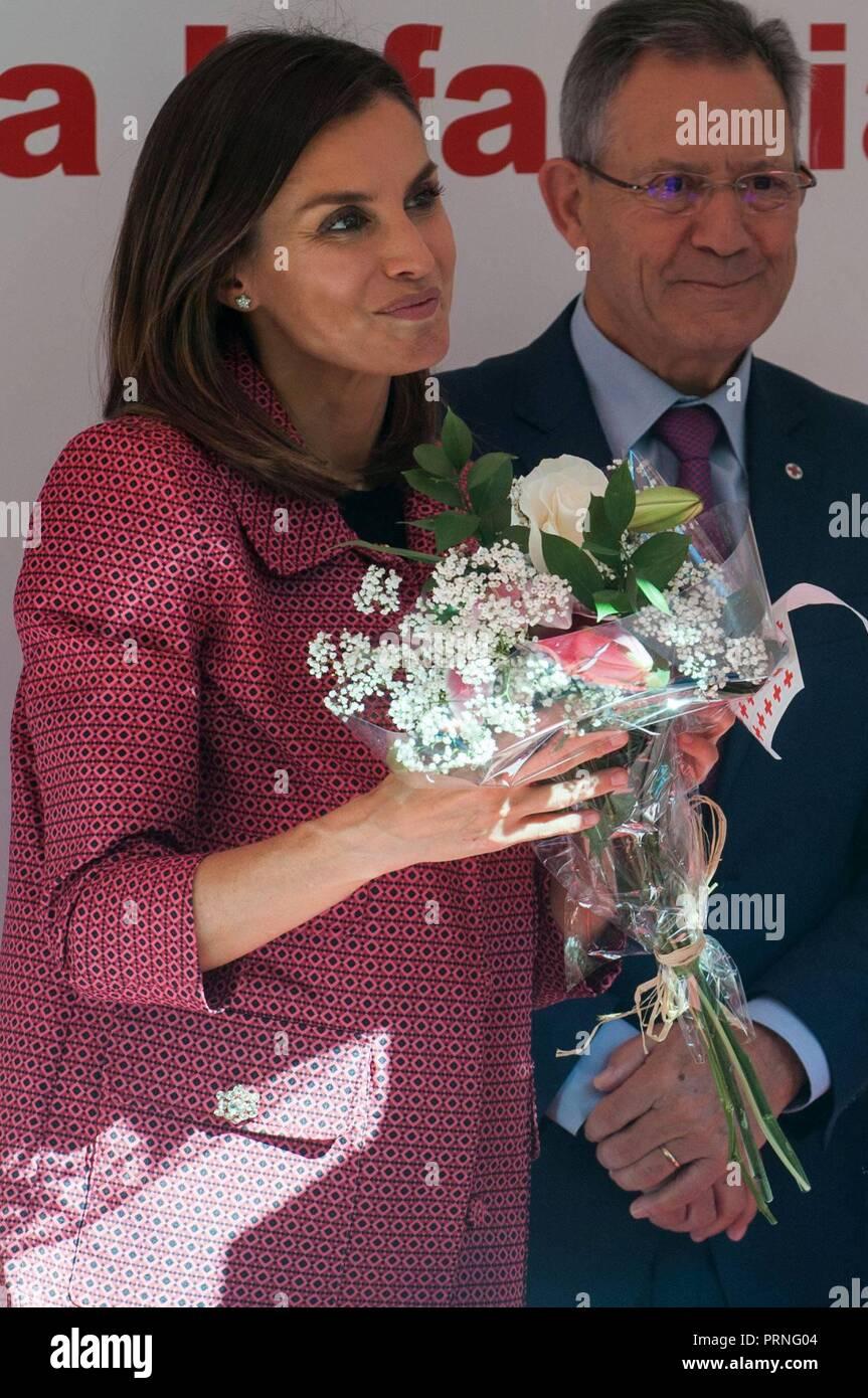 Madrid, Spain  4th October, 2018  Spanish Queen Letizia during the