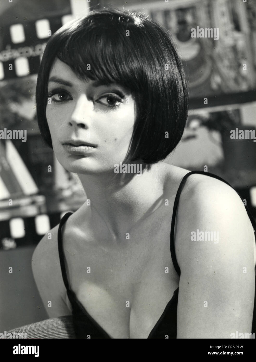 English film actress Barbara Steel, 1960s - Stock Image