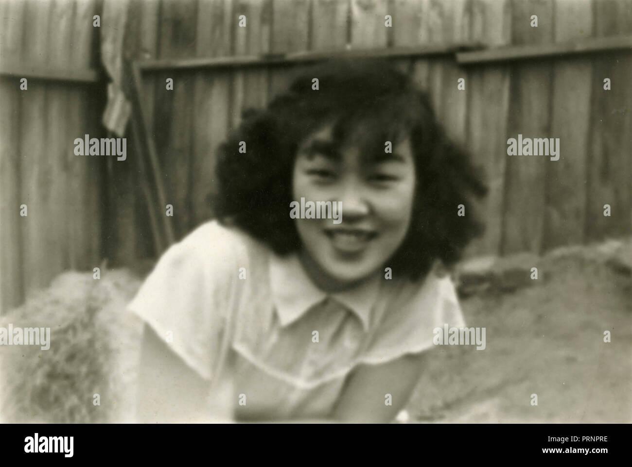Young girl, Seoul, Korea 1954 - Stock Image