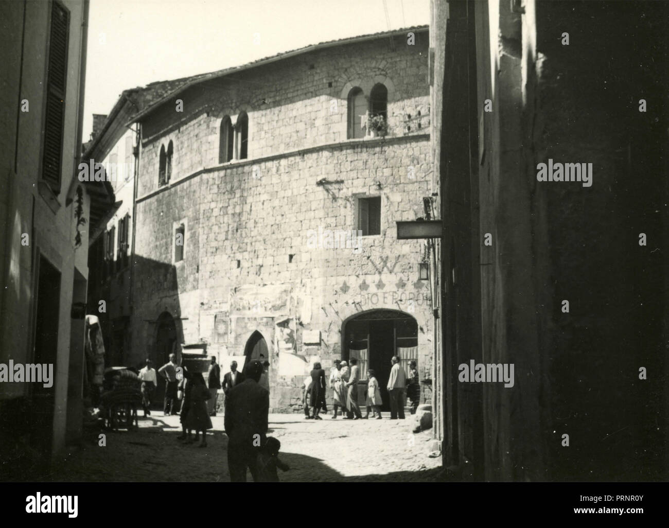 Small town life, Italy 1930s - Stock Image
