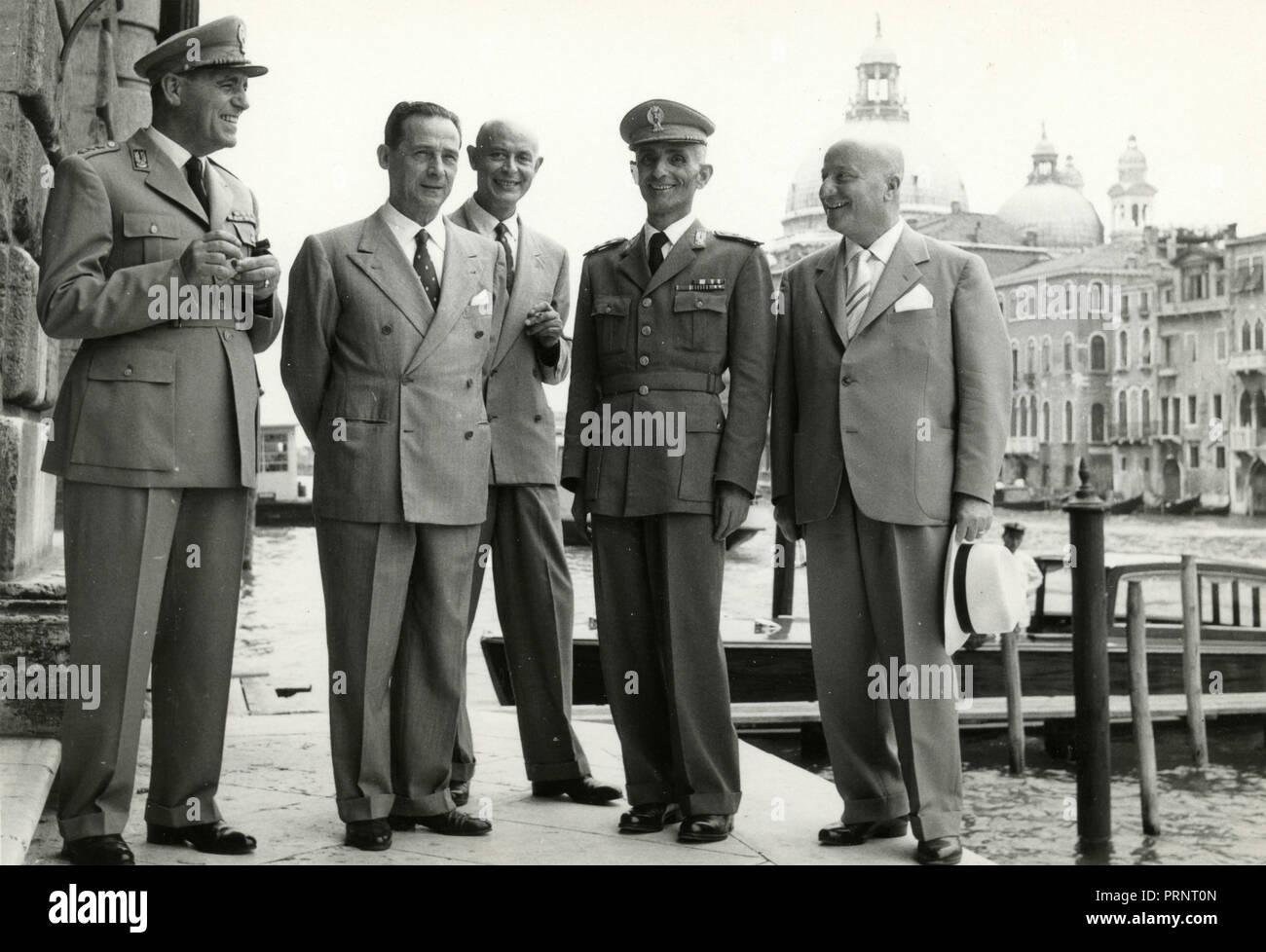 Finance police, Venice, Italy 1955 - Stock Image