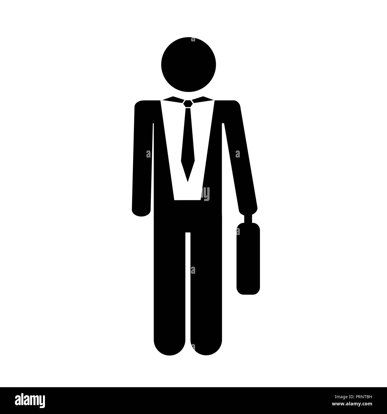 1244e44a5cee businessman man briefcase pictogram icon isolated on white background  vector illustration