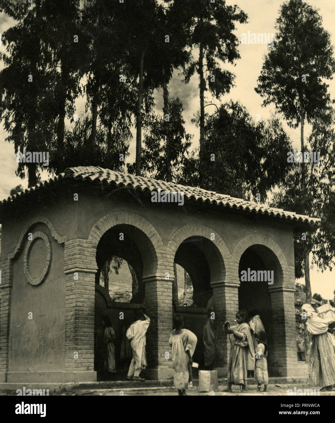 New fountains, Ethiopia 1930s - Stock Image
