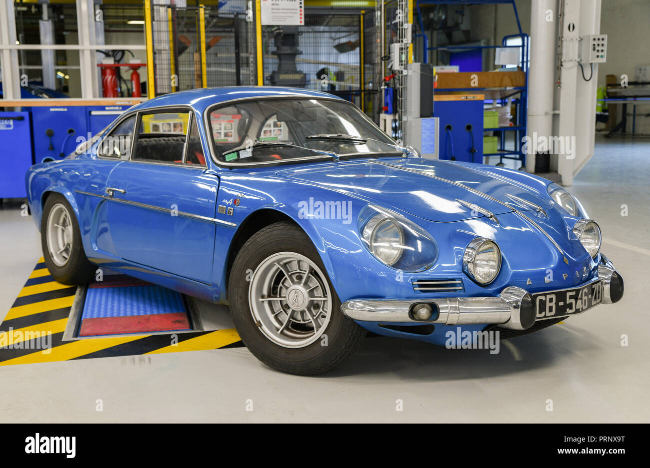 DIEPPE, FRANCE - JUNE 30, 2018: Renault Alpine car modele 110 Berlinette V85 on the exposition Vintage and classic Cars. - Stock Image