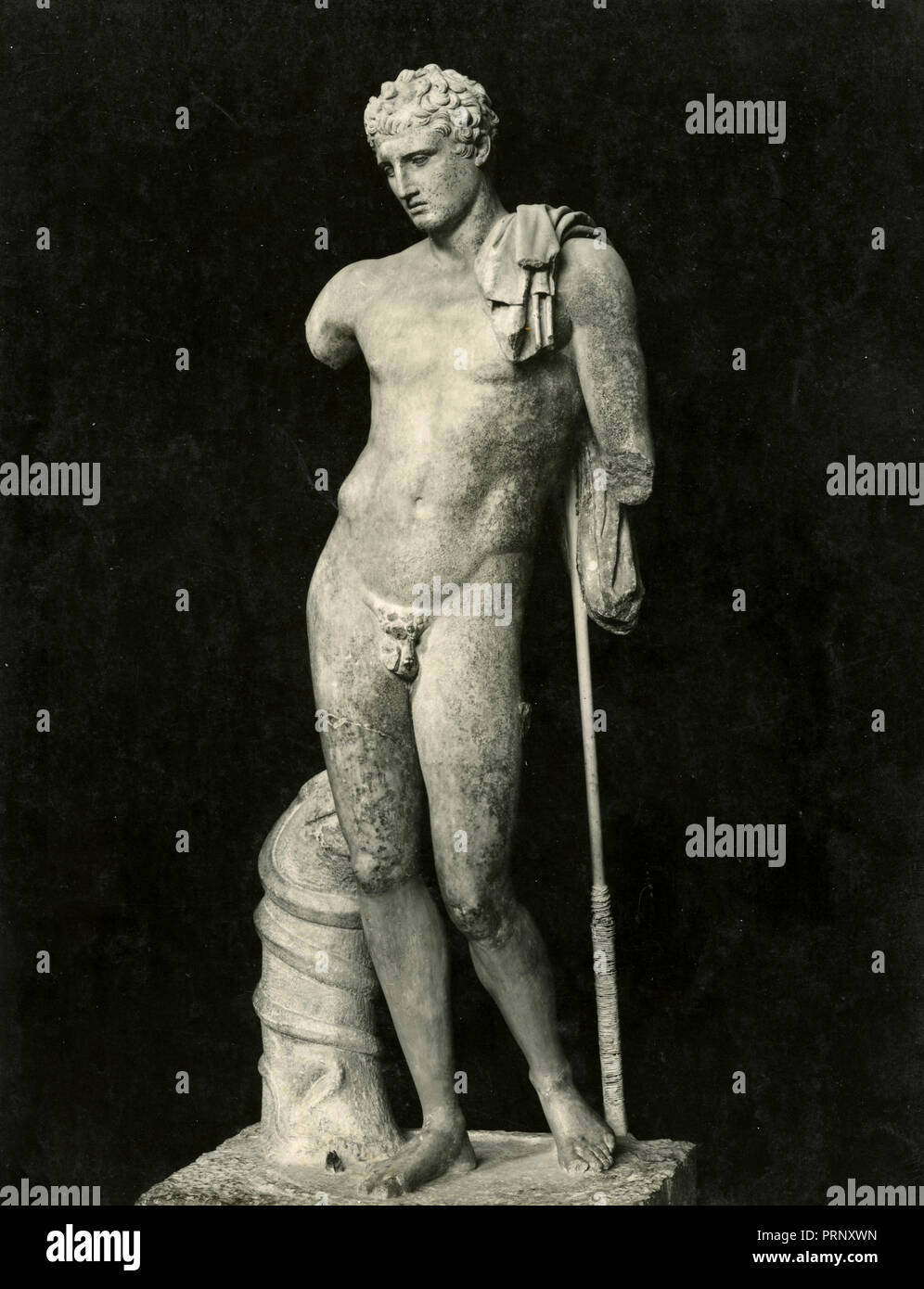 Hermes of Andros, marble statue, Greece 1930s - Stock Image