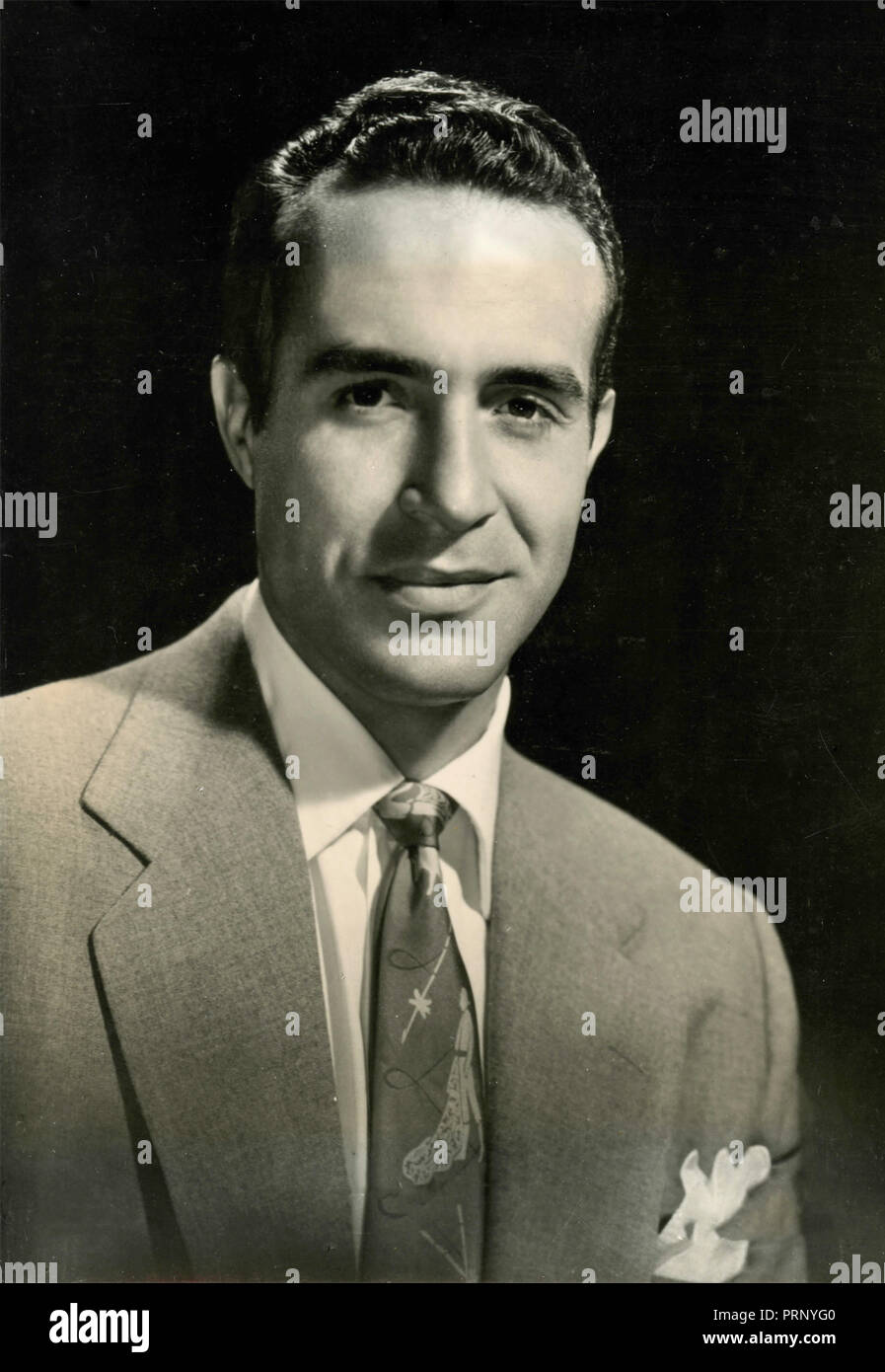 Mexican actor Ricardo Montalban, 1953 - Stock Image