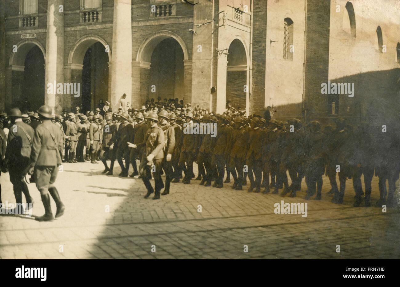 Military parade, Italy 1930s - Stock Image
