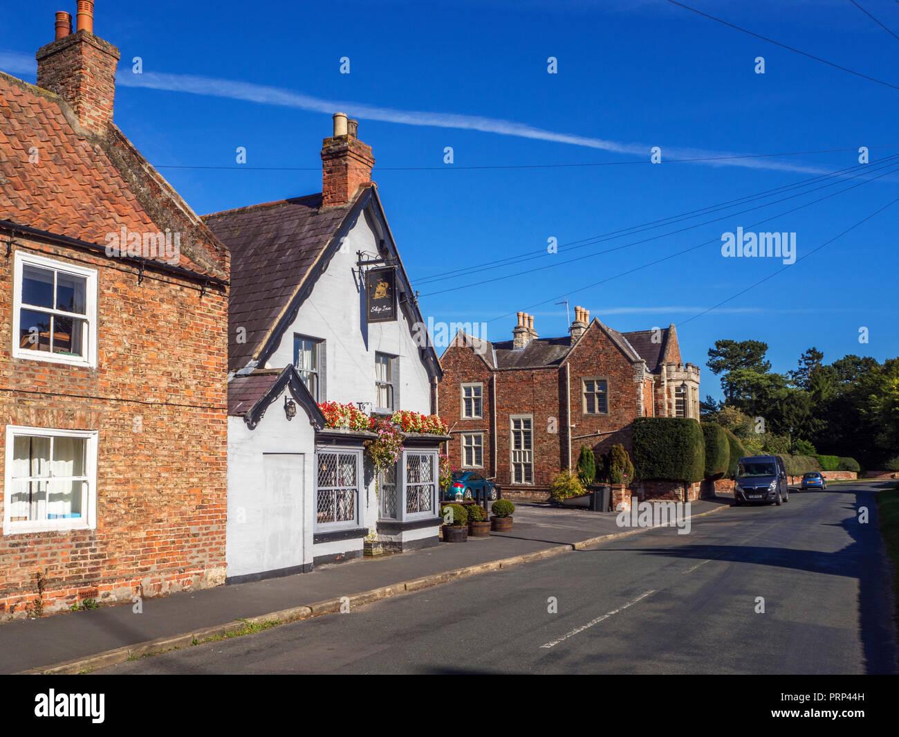 The Ship Inn village pub at Aldborough near Boroughbridge North Yorkshire England - Stock Image