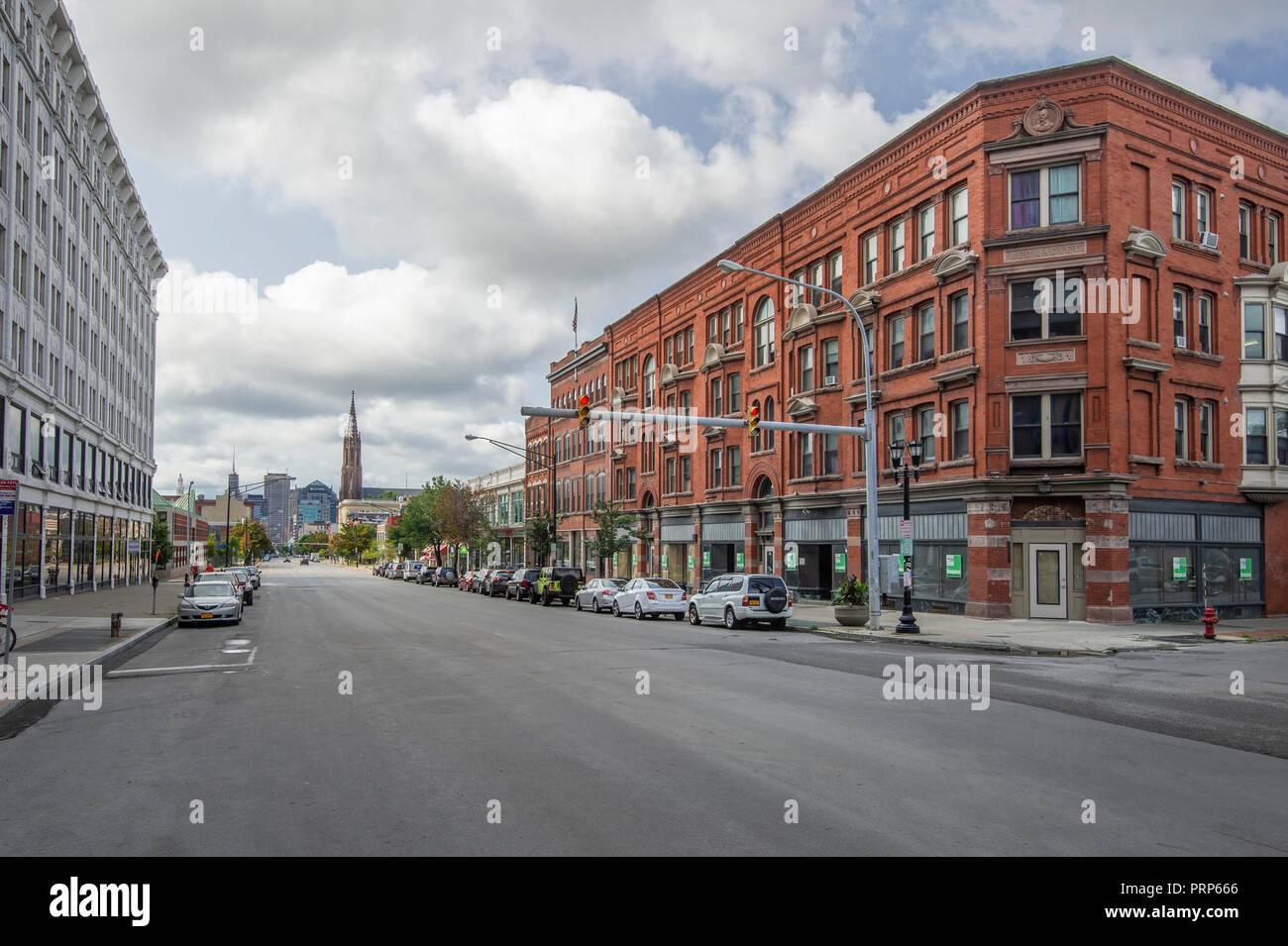 Main Street, Buffalo New York USA Stock Photo