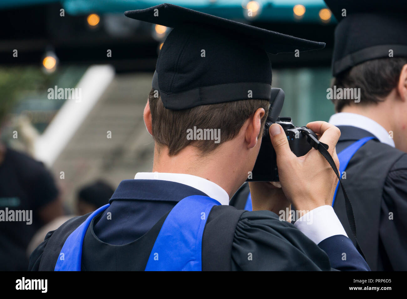 Student graduating with a university degree Stock Photo
