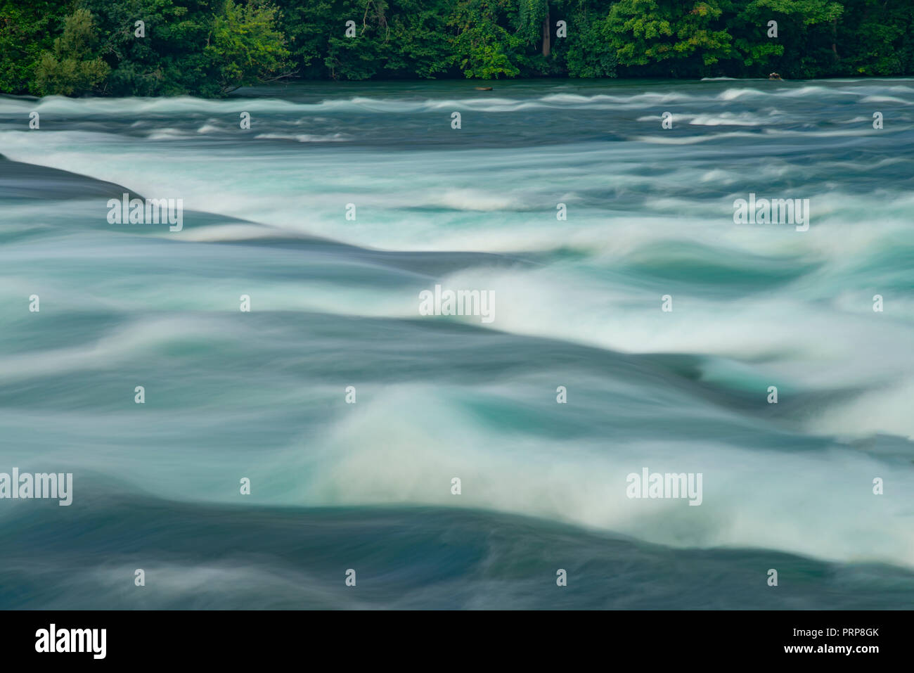 Flowing Water Motion Blur, St. Lawrence River - Stock Image