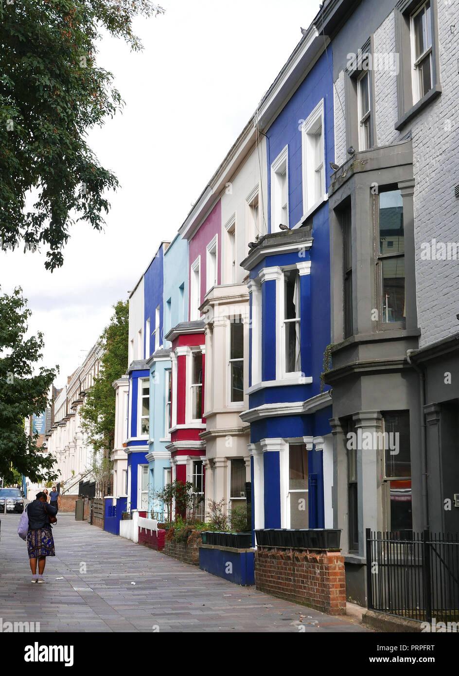 Houses in North Kensington London Stock Photo
