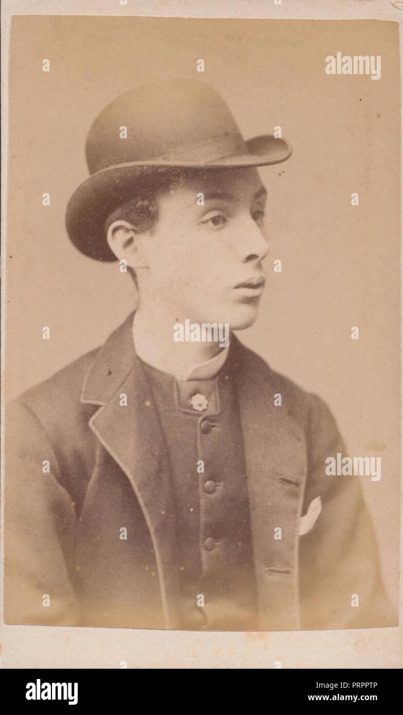 0817b021741 Men Wearing Bowler Hats Stock Photos   Men Wearing Bowler Hats Stock ...