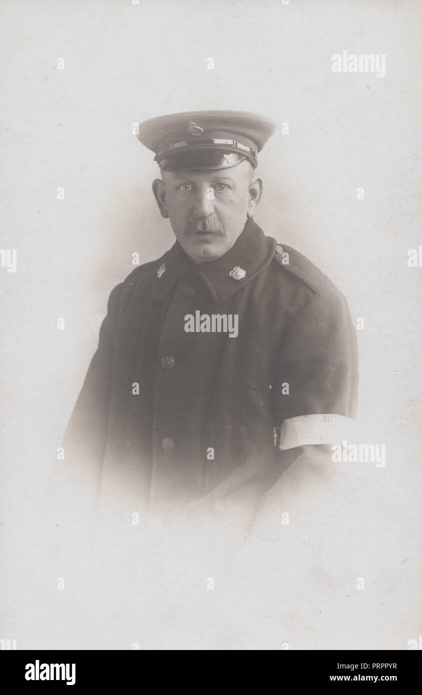 * Vintage Leeds Photograph of a Special Police Constable. - Stock Image