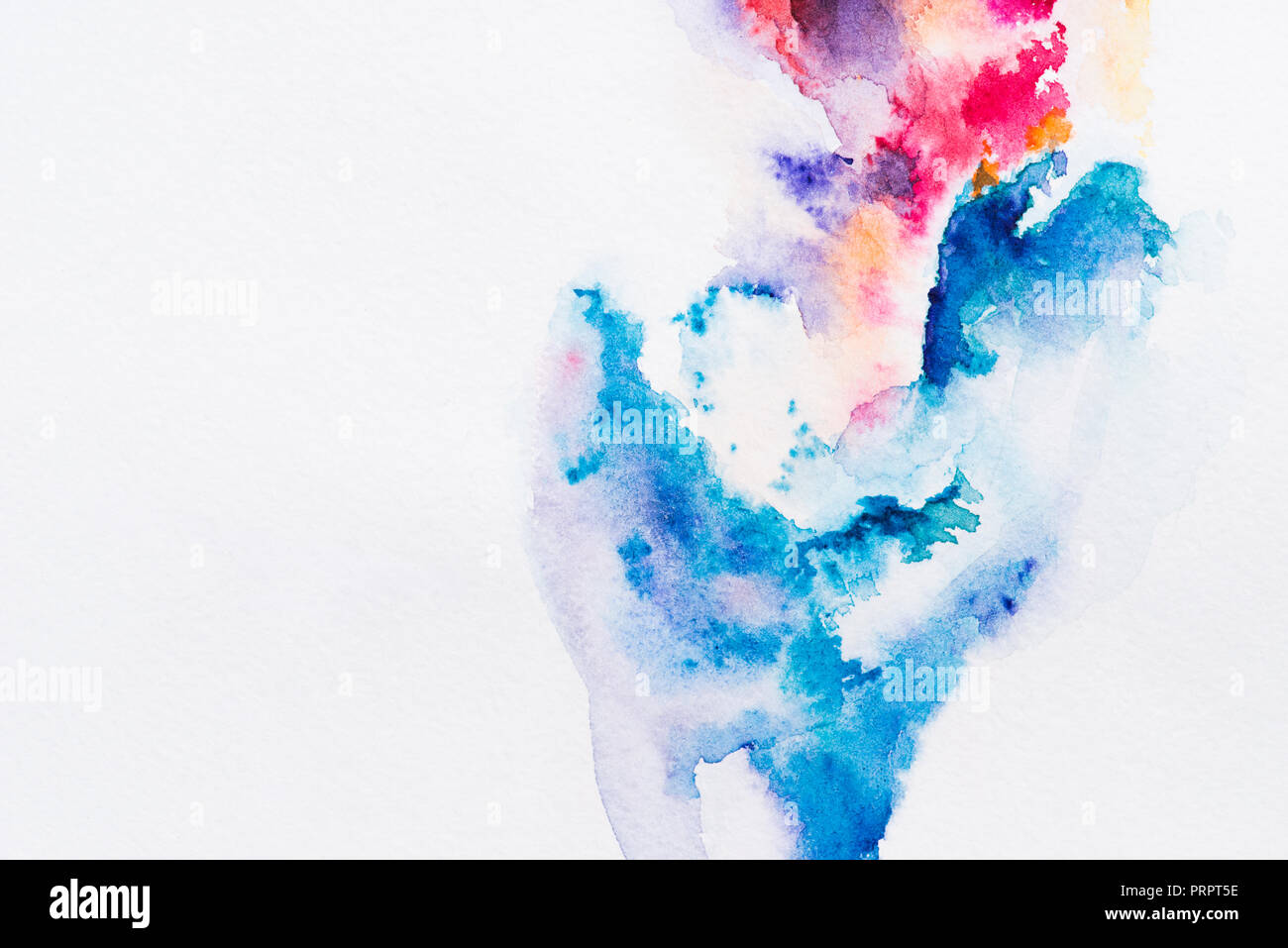 abstract painting with red and blue watercolor paints on white background stock photo 221163418 alamy red and blue watercolor paints