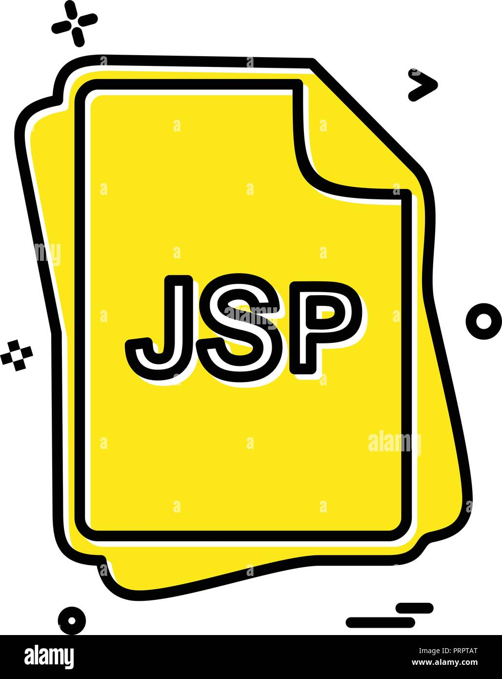 JSP file type icon design vector - Stock Image