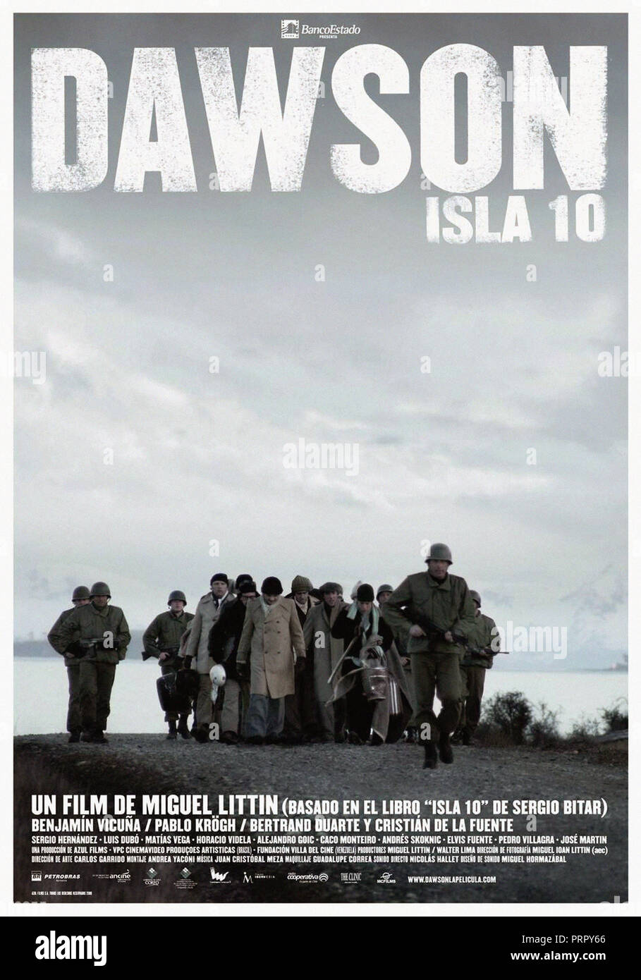 Prod DB © Azul Films - VPC Cinema Video / DR DAWSON ISLA 10 de Miguel Littin 2009 CHILI affiche chilienne pinochet, camp de concentration, dictature, - Stock Image