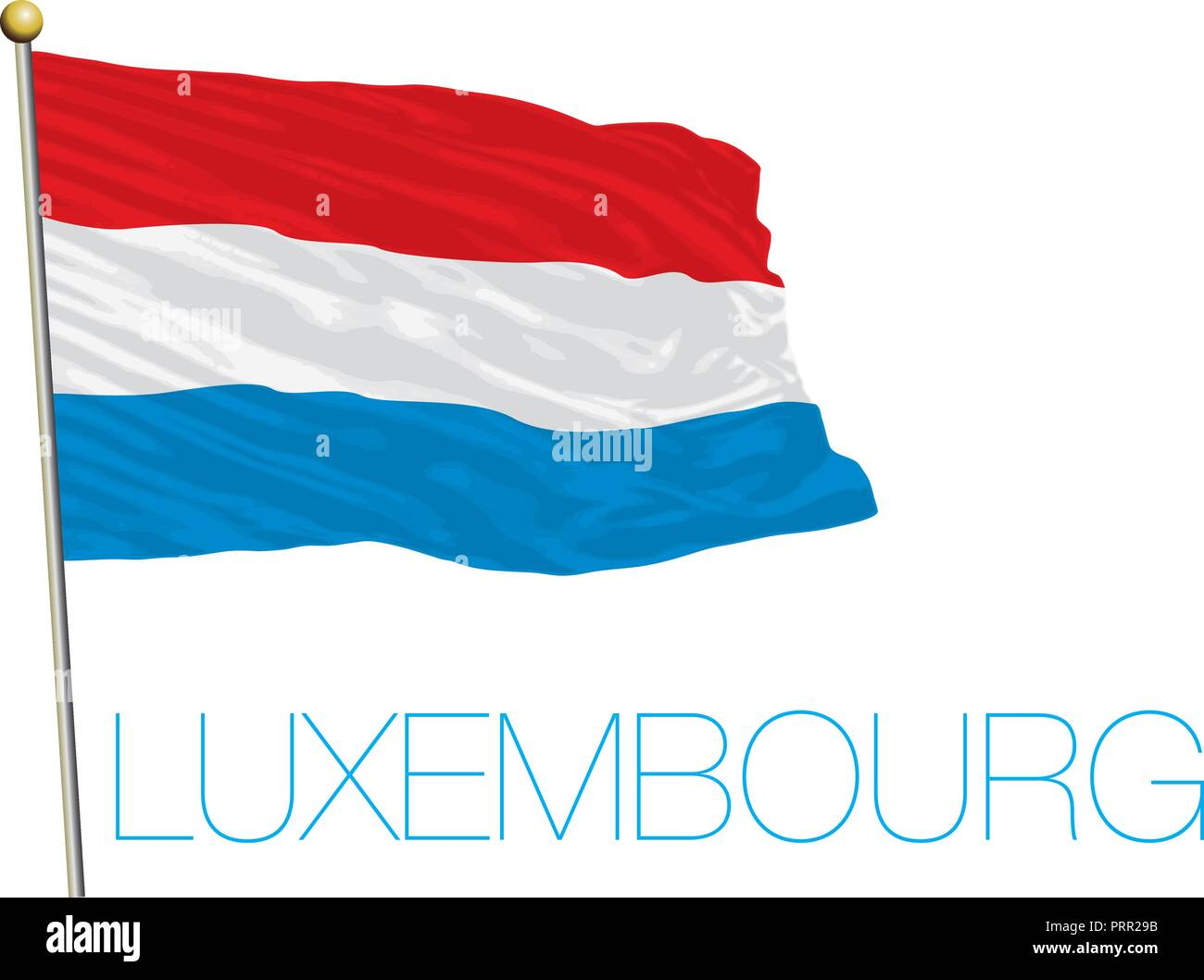 Luxembourg official flag, vector illustration - Stock Image