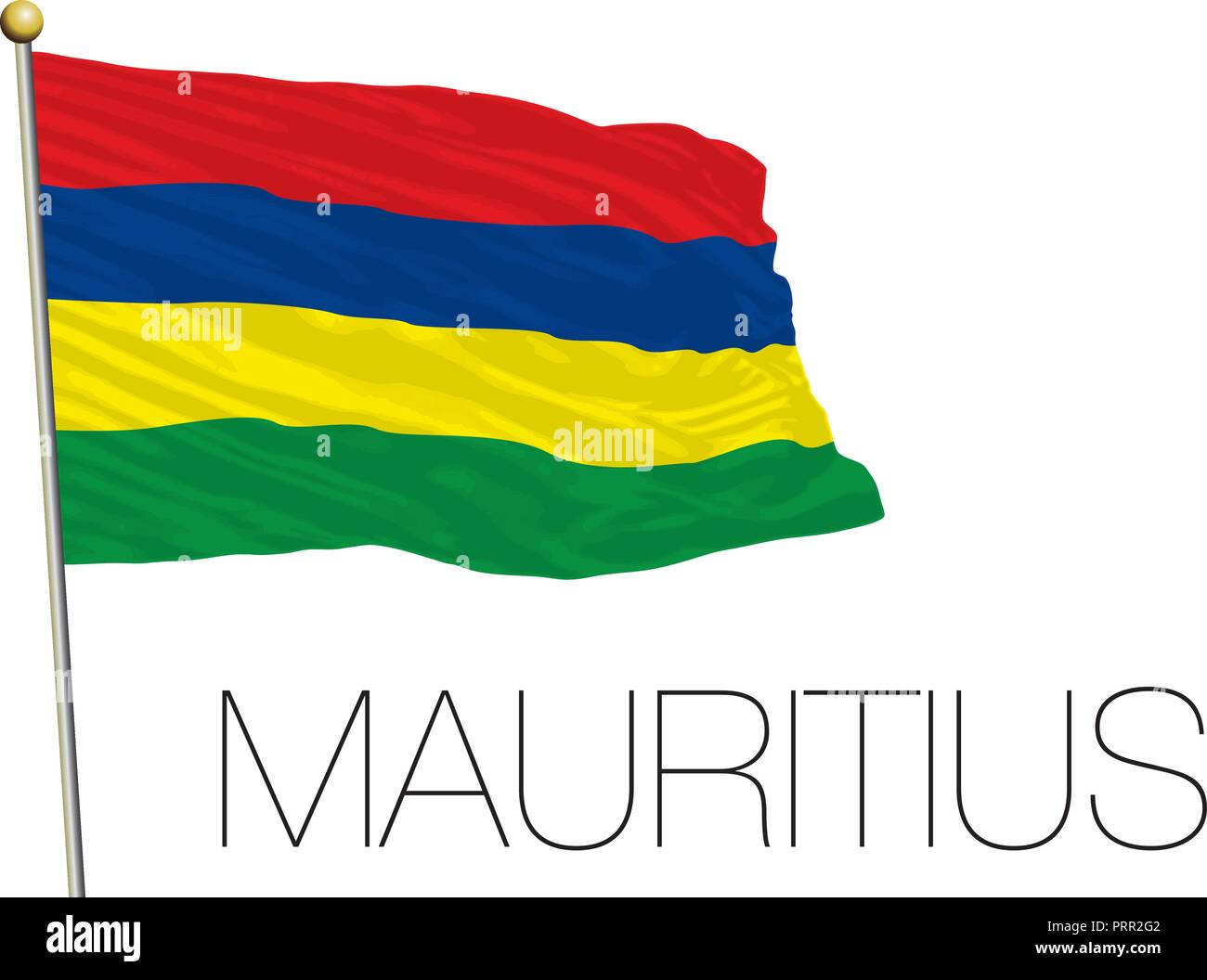 Mauritius official flag, vector illustration Stock Vector
