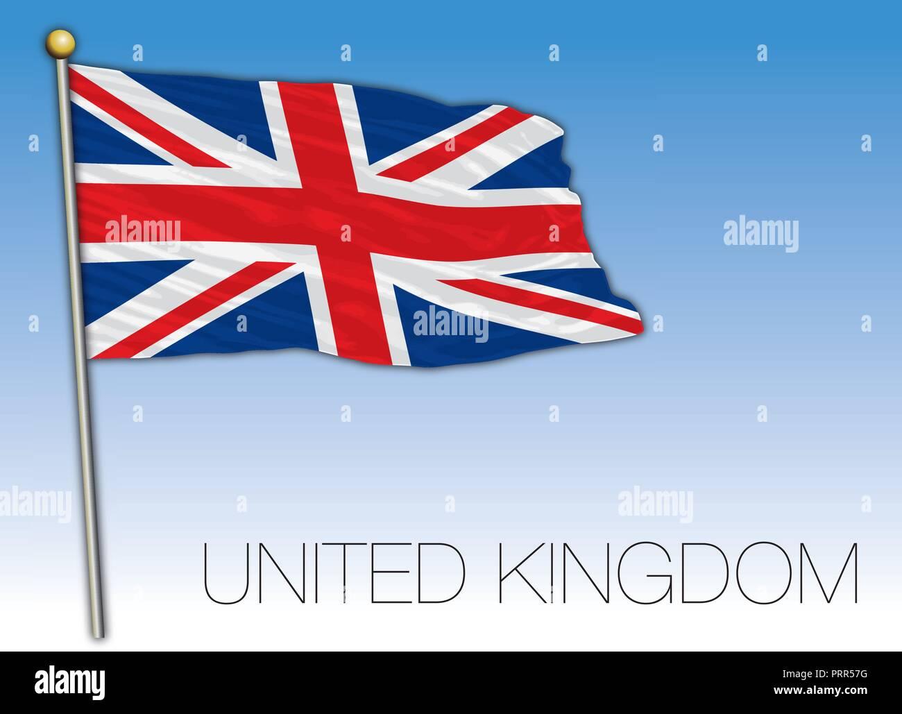 United Kingdom official flag, vector illustration - Stock Vector