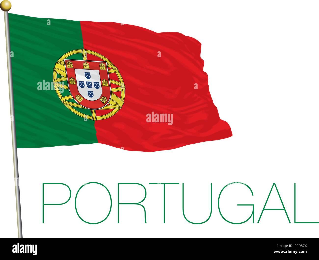 Portugal official flag, vector illustration Stock Vector