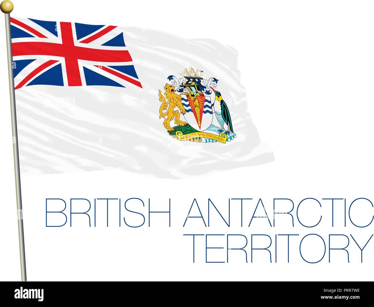 British Antarctic Territory official flag, vector illustration - Stock Vector