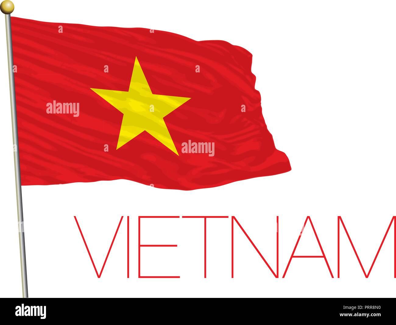 Vietnam official flag, vector illustration - Stock Image