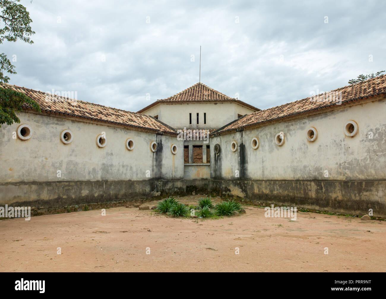 Old portuguese colonial building, Huila Province, Caconda, Angola Stock Photo