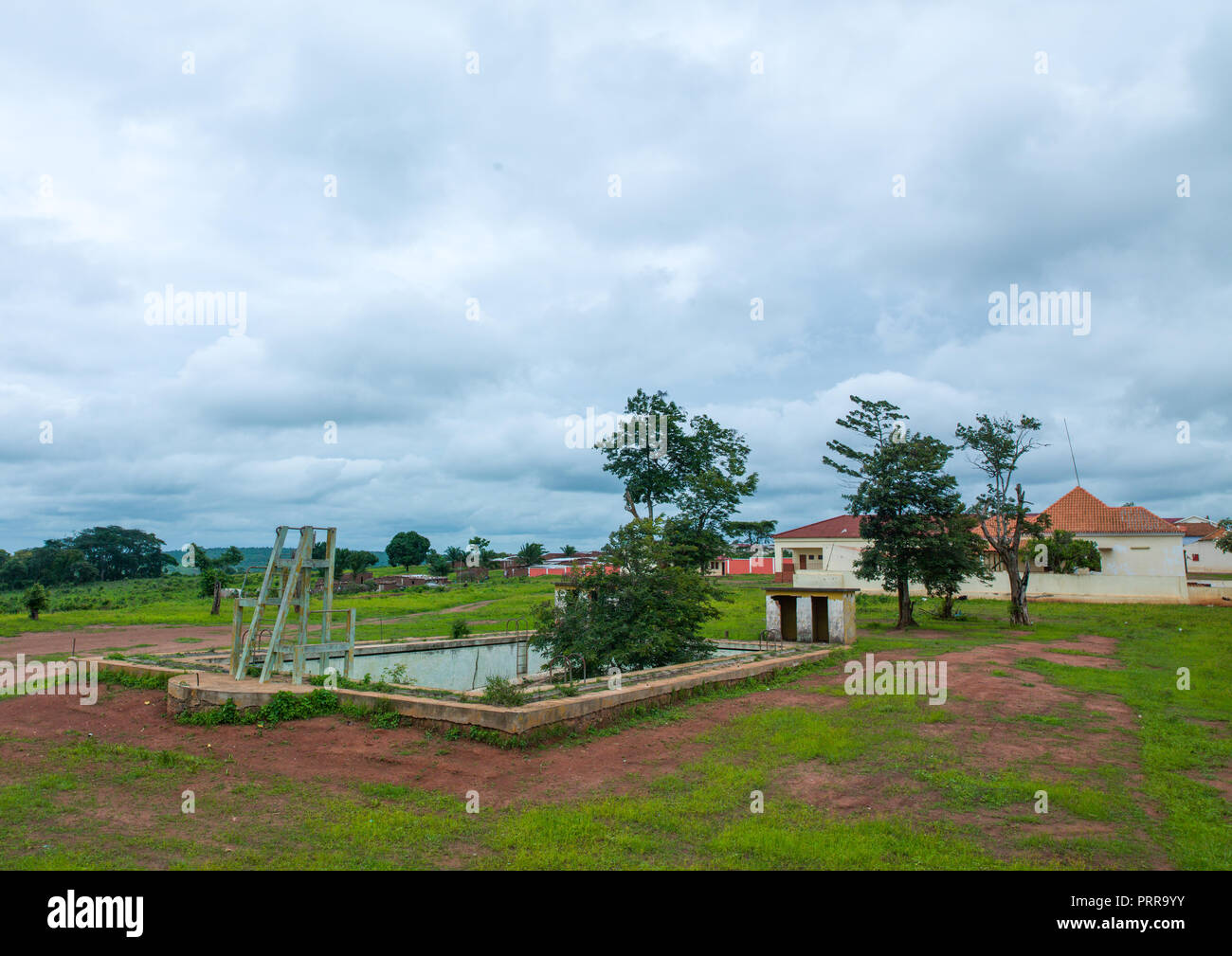 Empty pool in a village, Cunene Province, Chitado, Angola - Stock Image