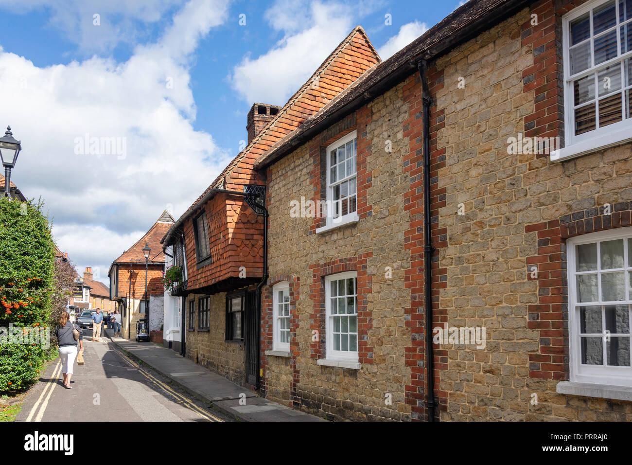 Period houses, Wool Lane, Midhurst, West Sussex, England, United Kingdom Stock Photo