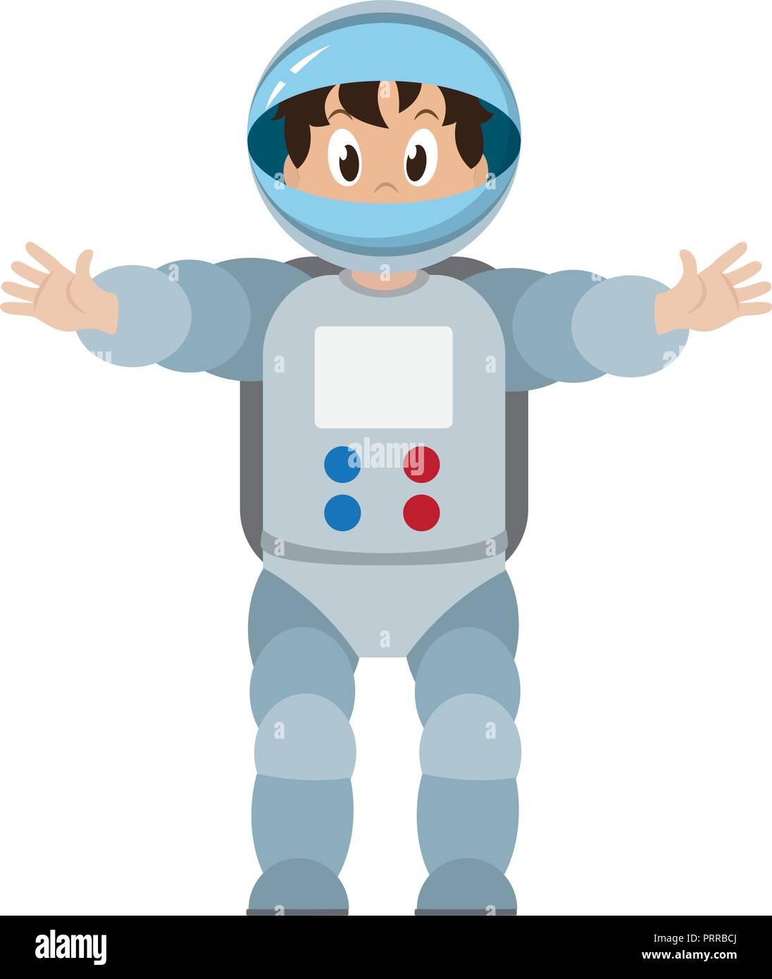 Astronaut boy cartoon Stock Vector