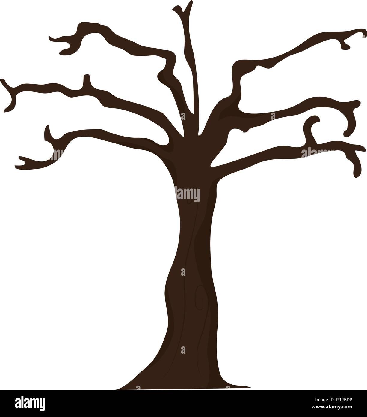 Dry tree isolated - Stock Vector