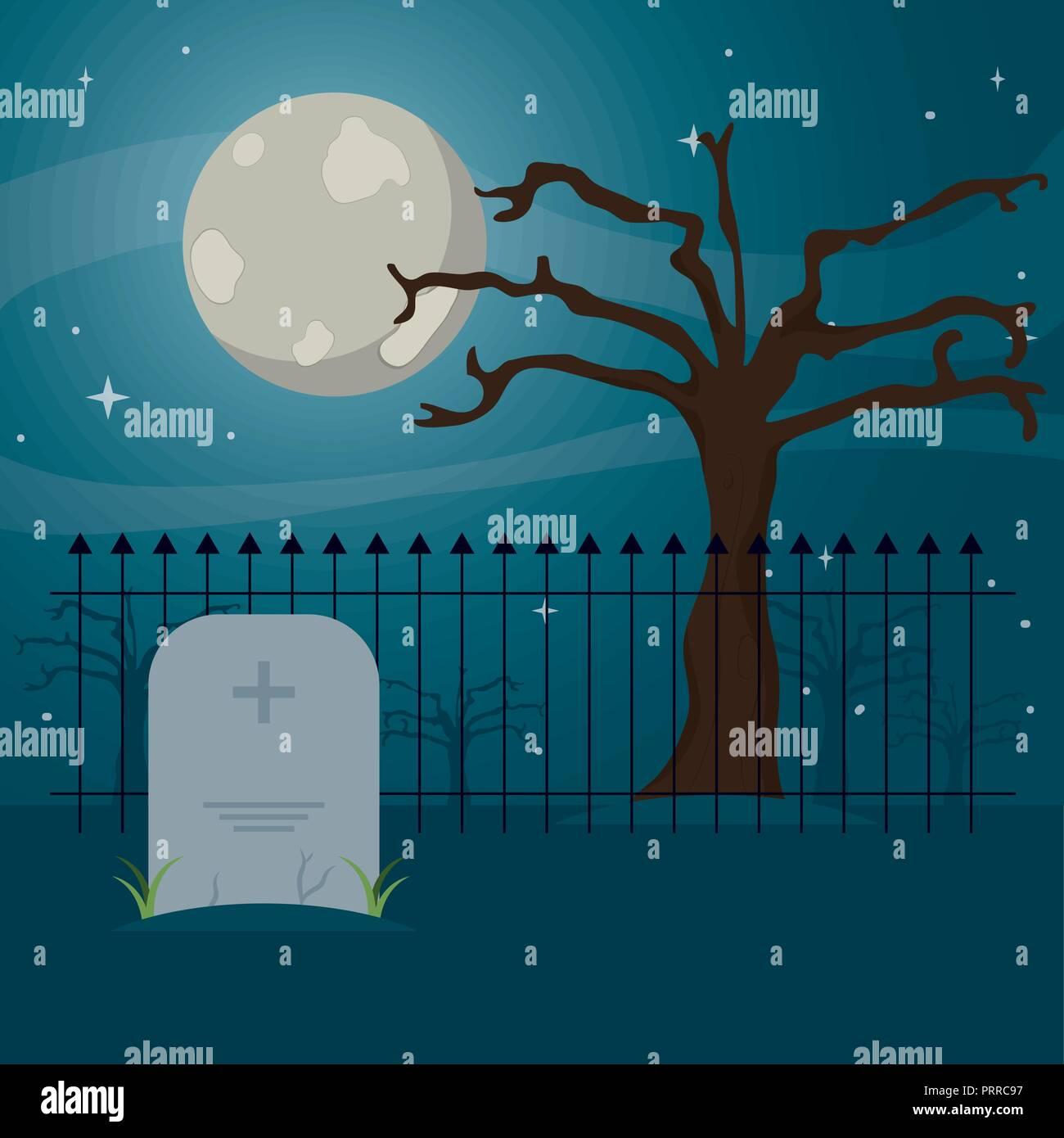 cemetery icon design - Stock Vector