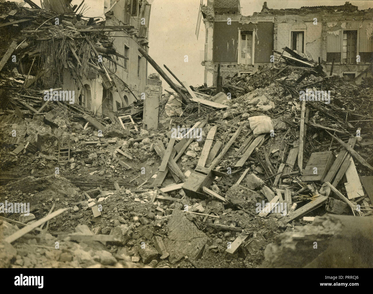 After the earthquake of 1908 in Messina, Italy - Stock Image