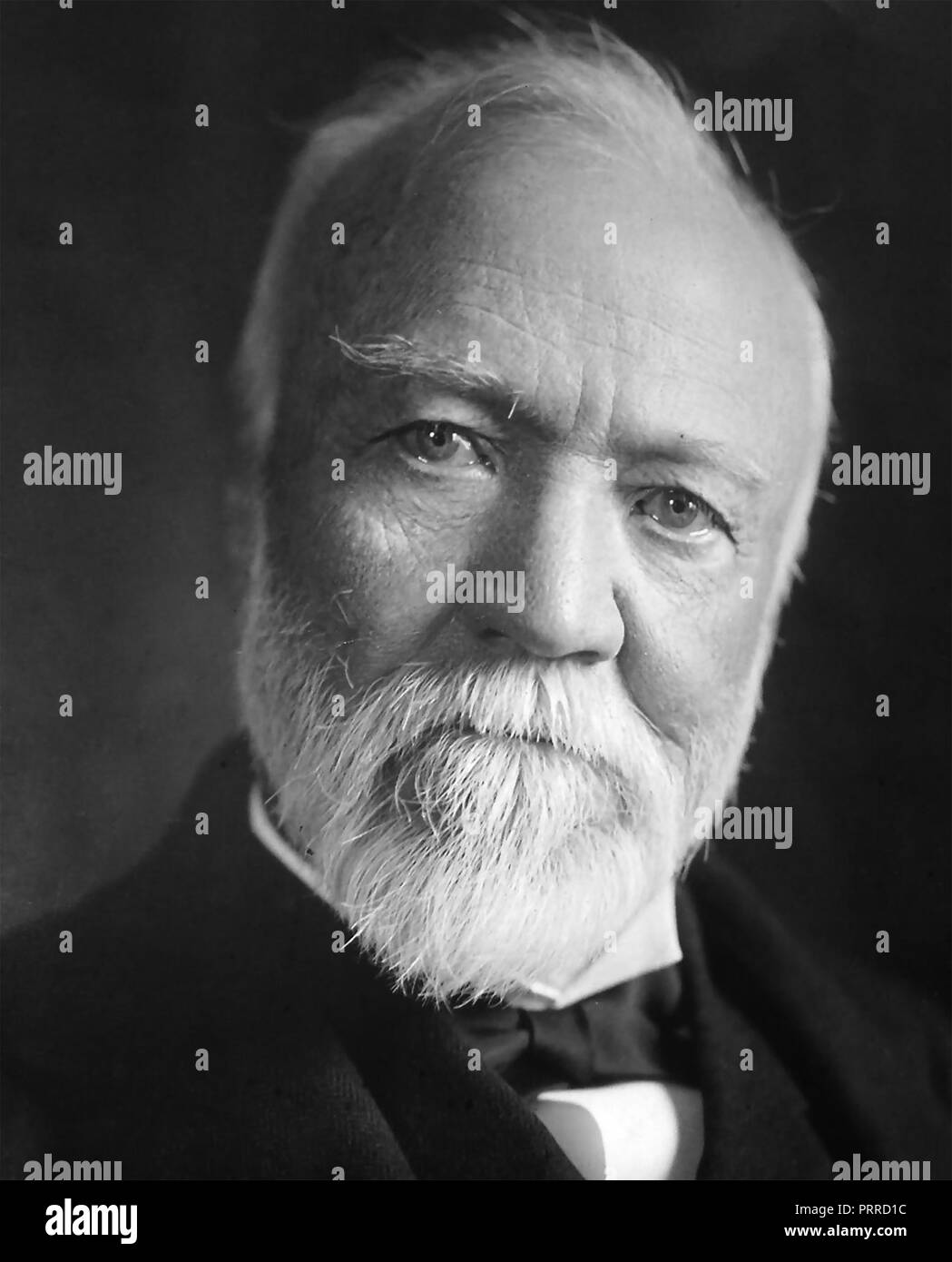 ANDREW CARNEGIE (1835-1919) Scottish-American industrialist and philanthropist about 1912 - Stock Image