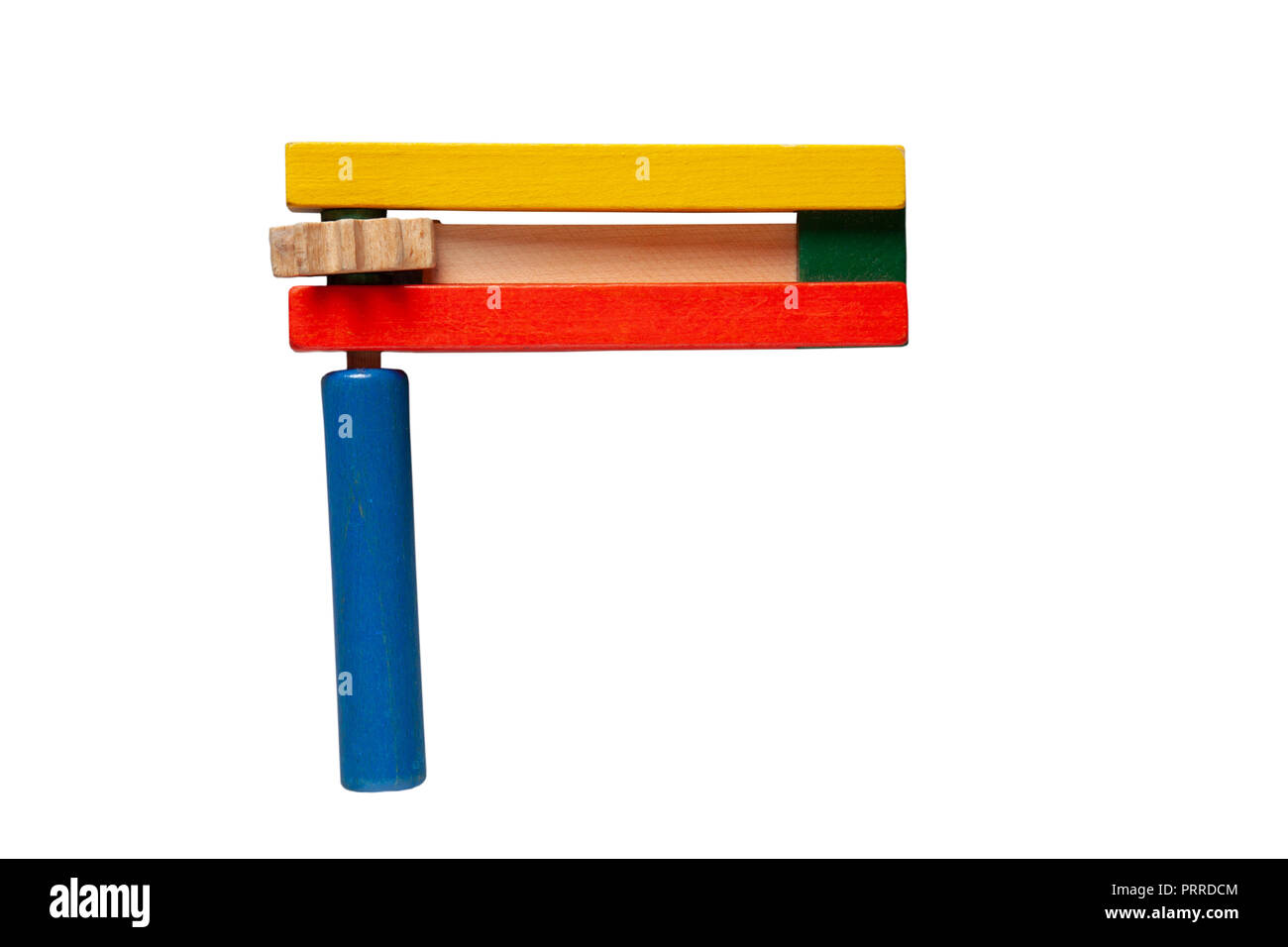 A Jewish graggar / greggar / grogger / groger / grager / gragger, a rattle / noisemaker, ratchet / ra'ashan used to blot out Haman's name during Purim - Stock Image