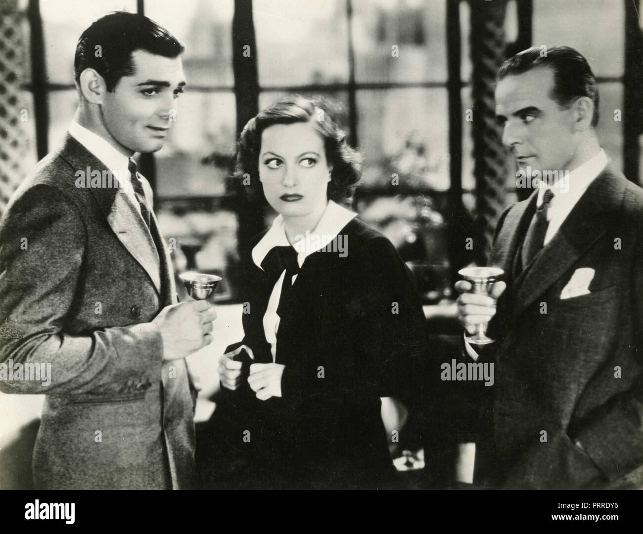 Actors Joan Crawford, Franchot Tone, and Clark Gable in the movie Dancing Lady, USA 1933 - Stock Image