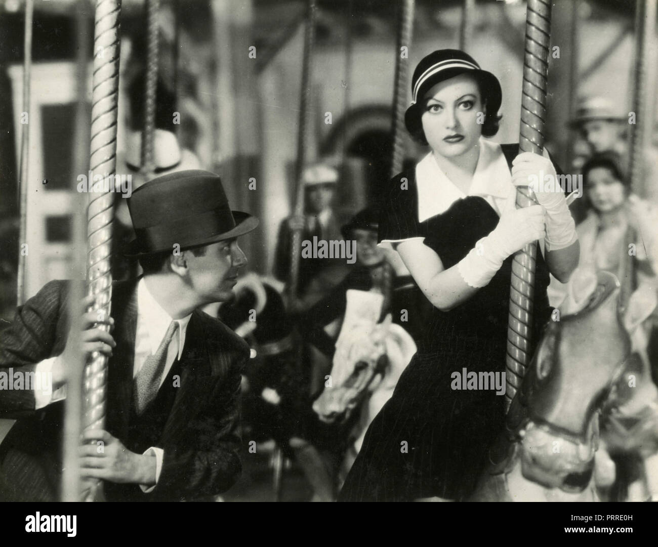 Actors Joan Crawford and Franchot Tone in the movie Dancing Lady, USA 1933 - Stock Image