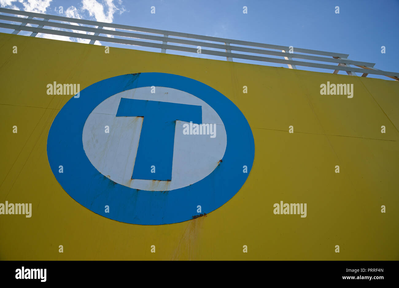 The letter T in capital. - Stock Image