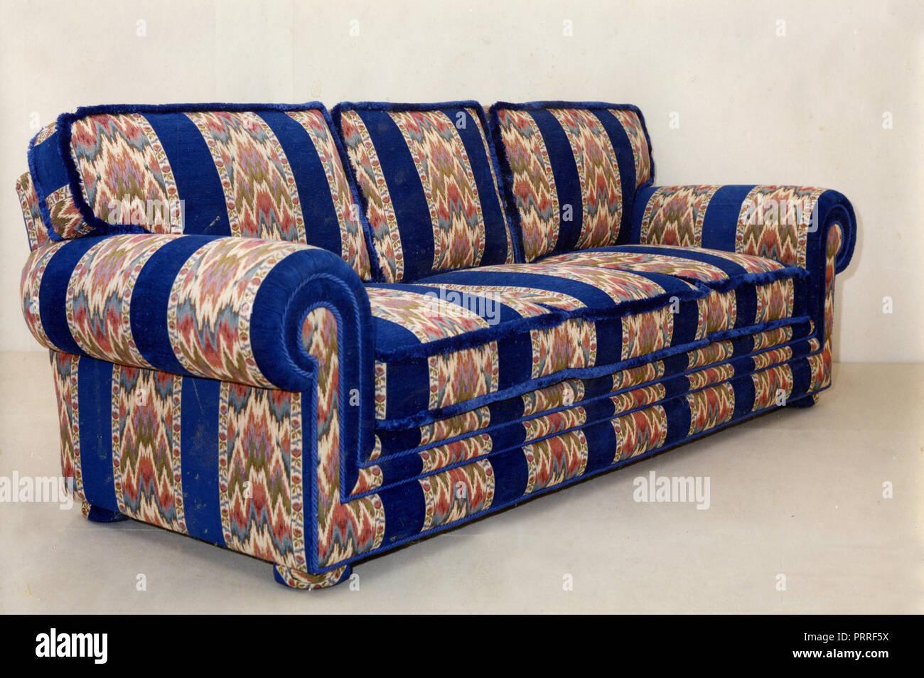 Sofa multicolor, 1990s - Stock Image