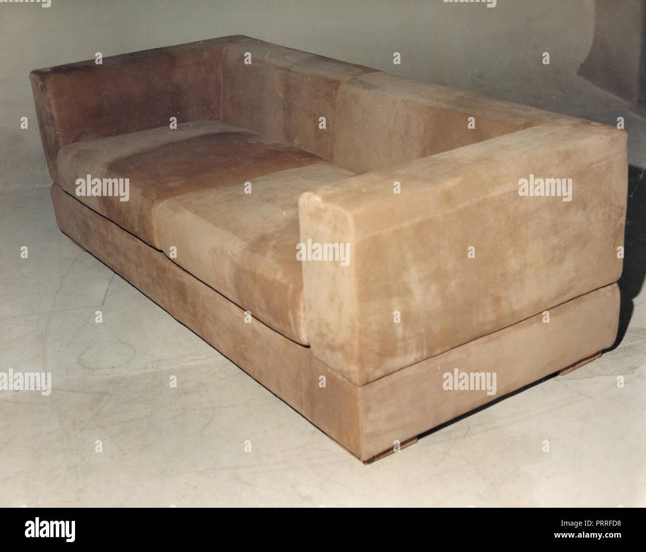Sofa alcantara, 1990s - Stock Image
