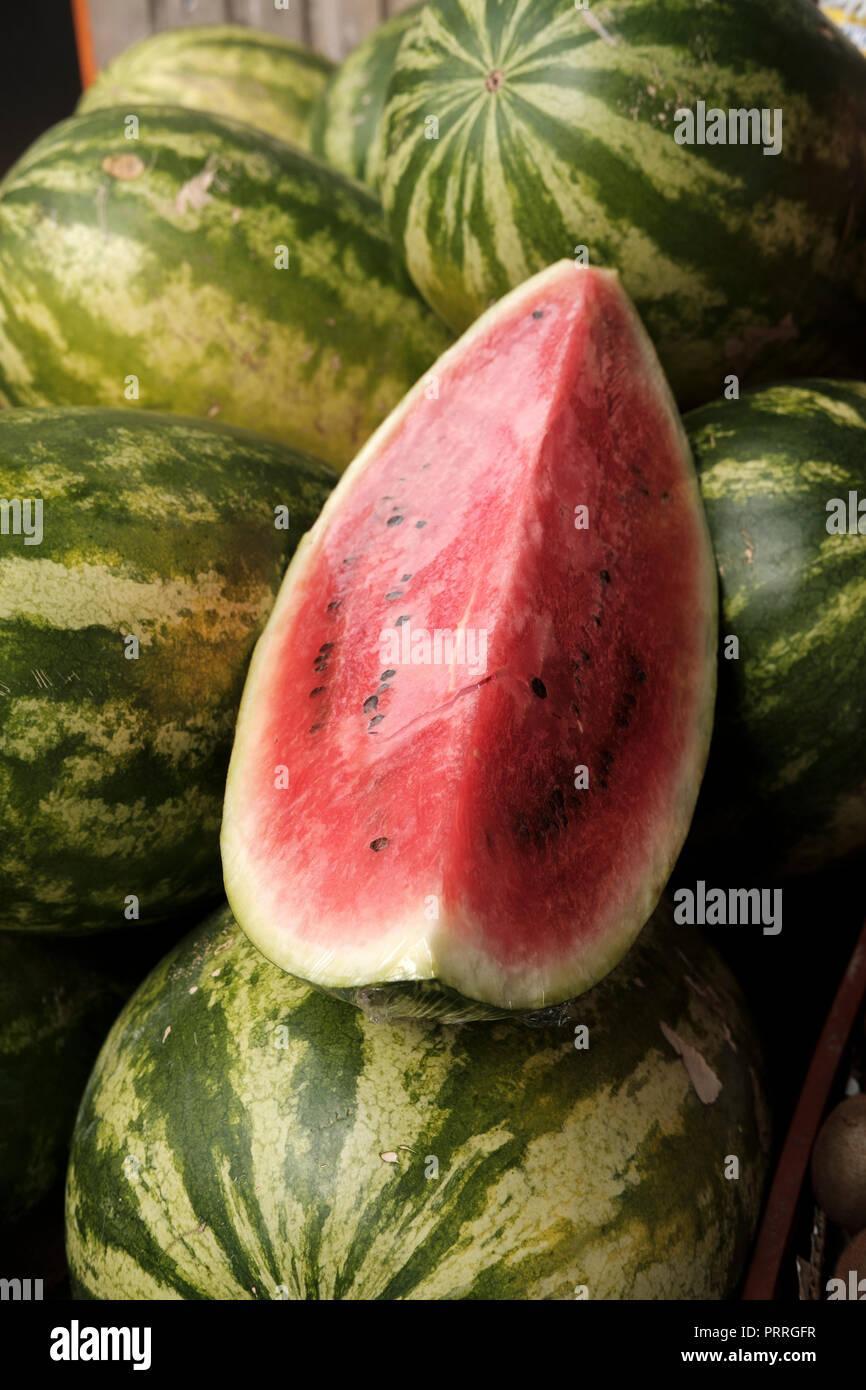 Water melon slice - Stock Image