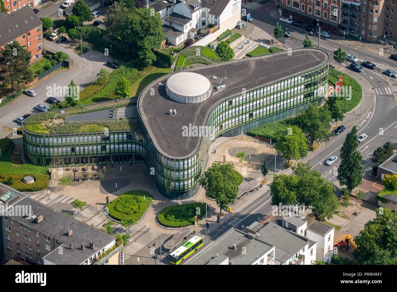 Stadtsparkasse Oberhausen, Head Office, Oberhausen, Ruhr Area, North Rhine-Westphalia, Germany - Stock Image