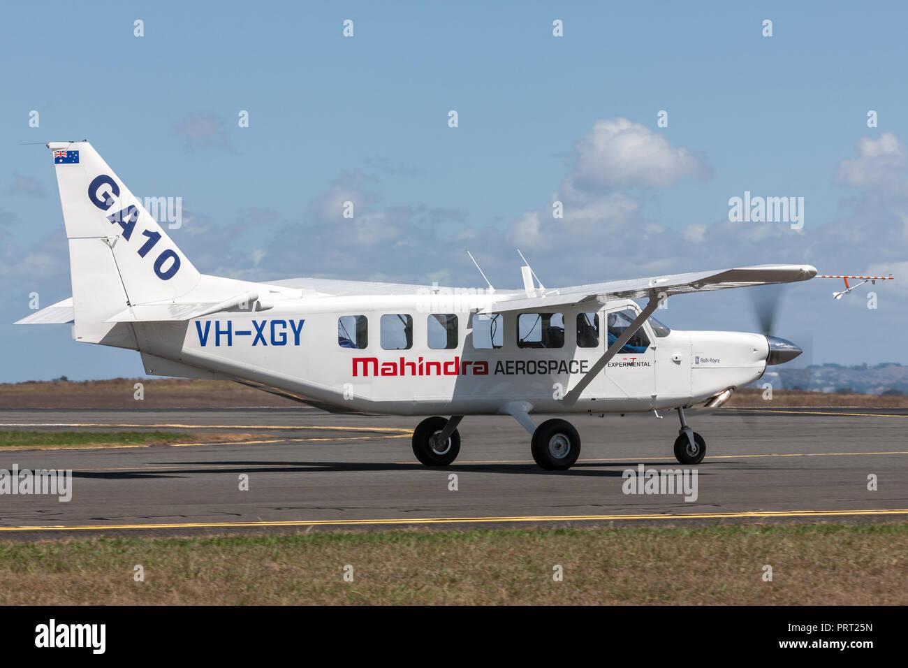 Mahindra Aerospace GA10 Airvan (VH-XGY) single engine utility aircraft. - Stock Image