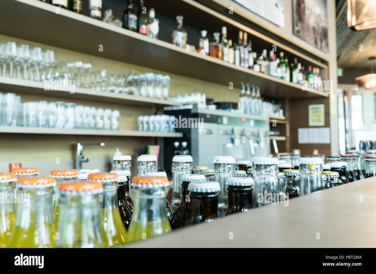 Bottles Behind A Bar Stock Photos & Bottles Behind A Bar Stock ...