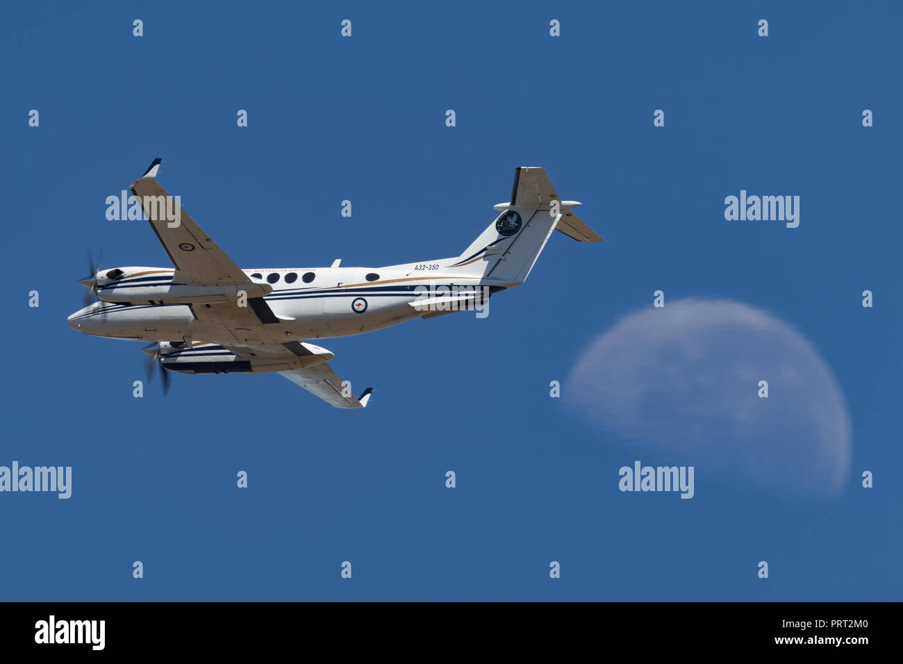 Royal Australian Air Force (RAAF) Beechcraft King Air 350 A32-350 from 32 Squadron based at RAAF East Sale in Victoria. - Stock Image